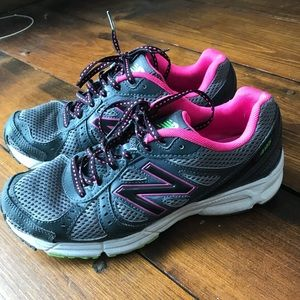 Pink gray New balance sneakers